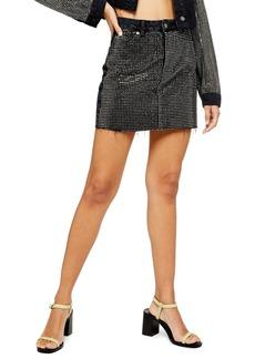 Topshop Studded Gem Miniskirt
