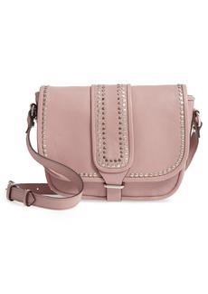 Topshop Premium Leather Studded Shoulder Bag