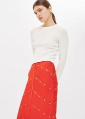 Topshop Studded Pencil Skirt