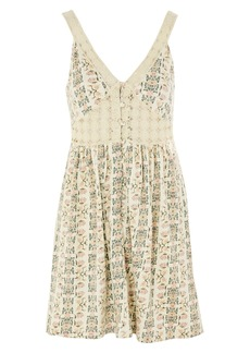 Topshop Sundre Crochet Trim Dress