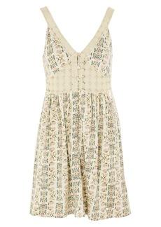 Topshop Sundre Crochet Trim Dress