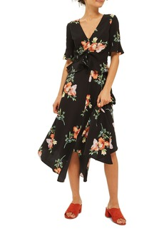 Topshop Sunset Iris Handkerchief Hem Skirt