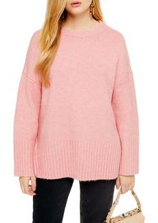 Topshop Supersoft Deep Hem Crewneck Sweater (Regular & Petite)