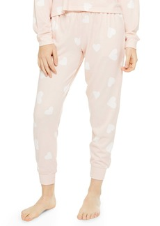 Topshop Supersoft Heart Print Knit Joggers