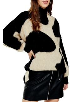 Topshop Swirl Pattern Sweater