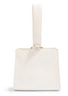 Topshop Swish Croc-Embossed Faux Leather Bag