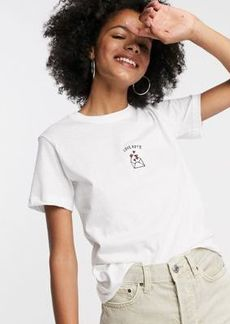 Topshop t-shirt with love note motif in white