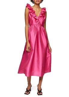 Topshop Taffeta A-Line Dress