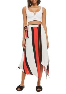 Topshop Tango Stripe Midi Skirt
