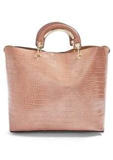 Topshop Tao Faux Leather Tote
