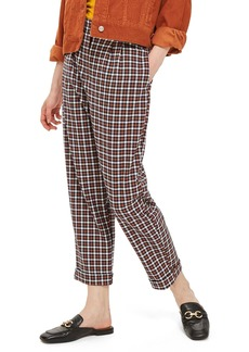 Topshop Tapered Checkered Trousers (Regular & Petite)