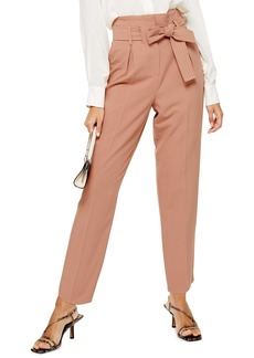 Topshop Terri Belted Straight Leg Trousers