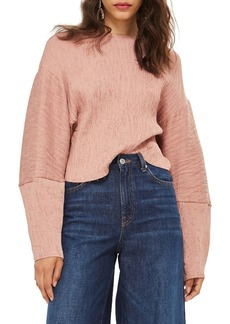 Topshop Textured Crinkle Top