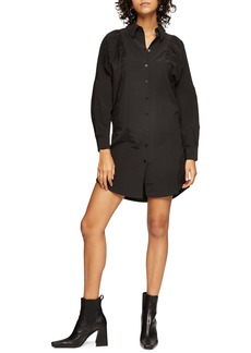 Topshop Textured Mini Shirtdress