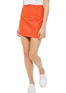 Topshop Textured Scallop Front Miniskirt