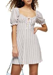 Topshop Textured Stripe Minidress