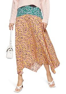 Topshop Thrift Mixed Floral Midi Skirt (Regular & Petite)