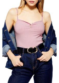 Topshop Tia Button Camisole