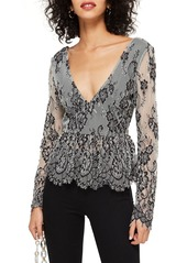 Topshop topshop tie back lace peplum top abvca190bf1 a