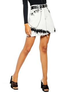 Topshop Tie Dye Denim Miniskirt