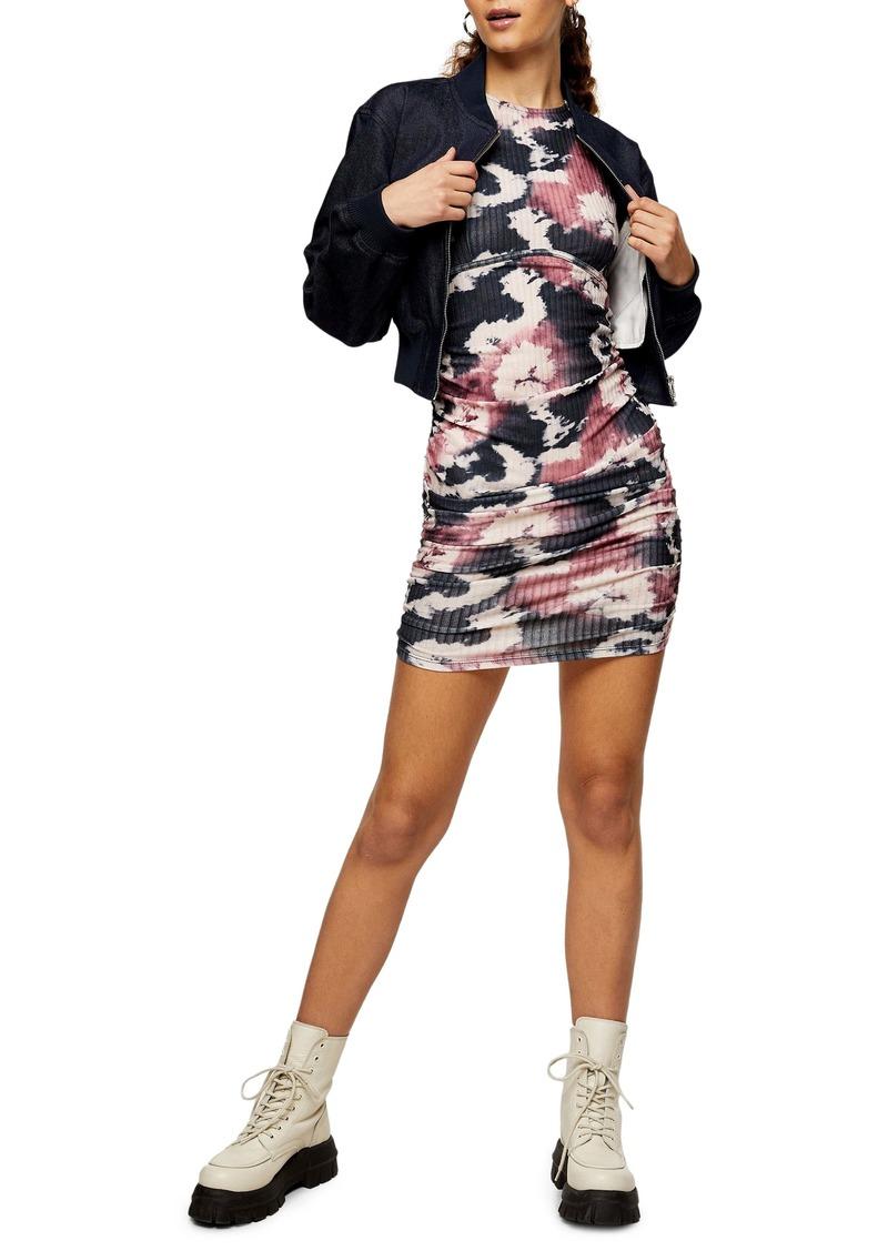 Topshop Tie Dye Sleeveless Minidress
