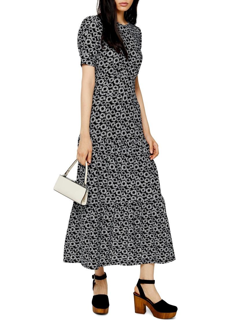 Topshop Tiered Midi Dress