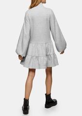 Topshop Tiered Sweatshirt Minidress