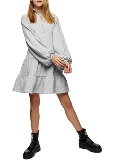 Topshop Tiered Sweatshirt Minidress