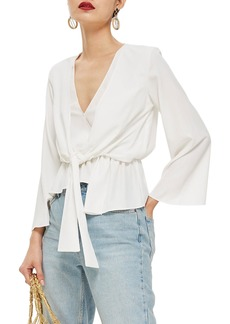 Topshop Tiffany Asymmetrical Blouse