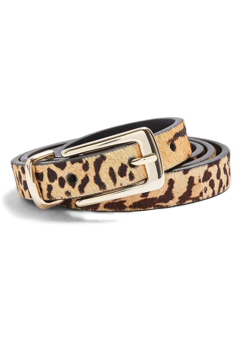 Topshop Tiger Print Calf Hair Skinny Belt