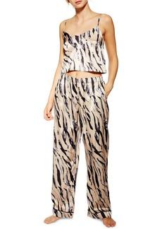 Topshop Tiger Print Pajama Pants