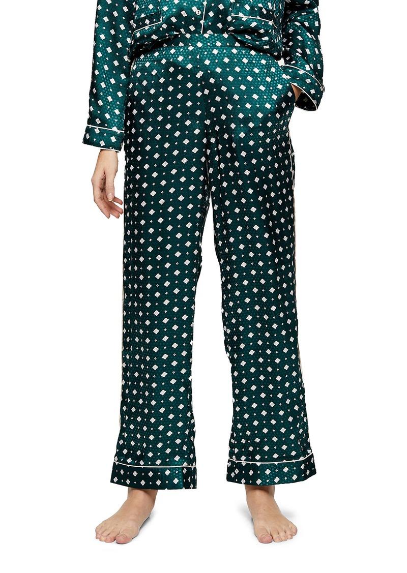 Topshop Tile Jacquard Pajama Pants