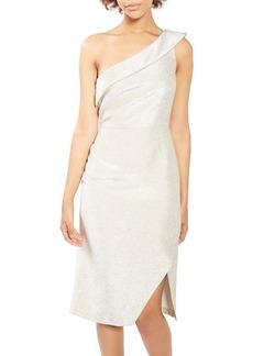 Topshop Tinsel One-Shoulder Dress