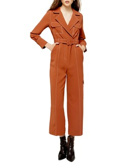 Topshop Topstitched Flying Jumpsuit