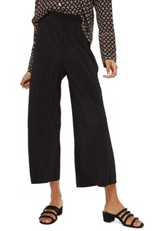 Topshop Track Band Plissé Wide Leg Trousers