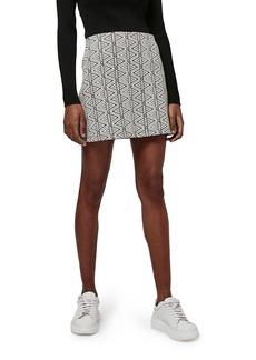 Topshop Triangle Jacquard A-Line Miniskirt