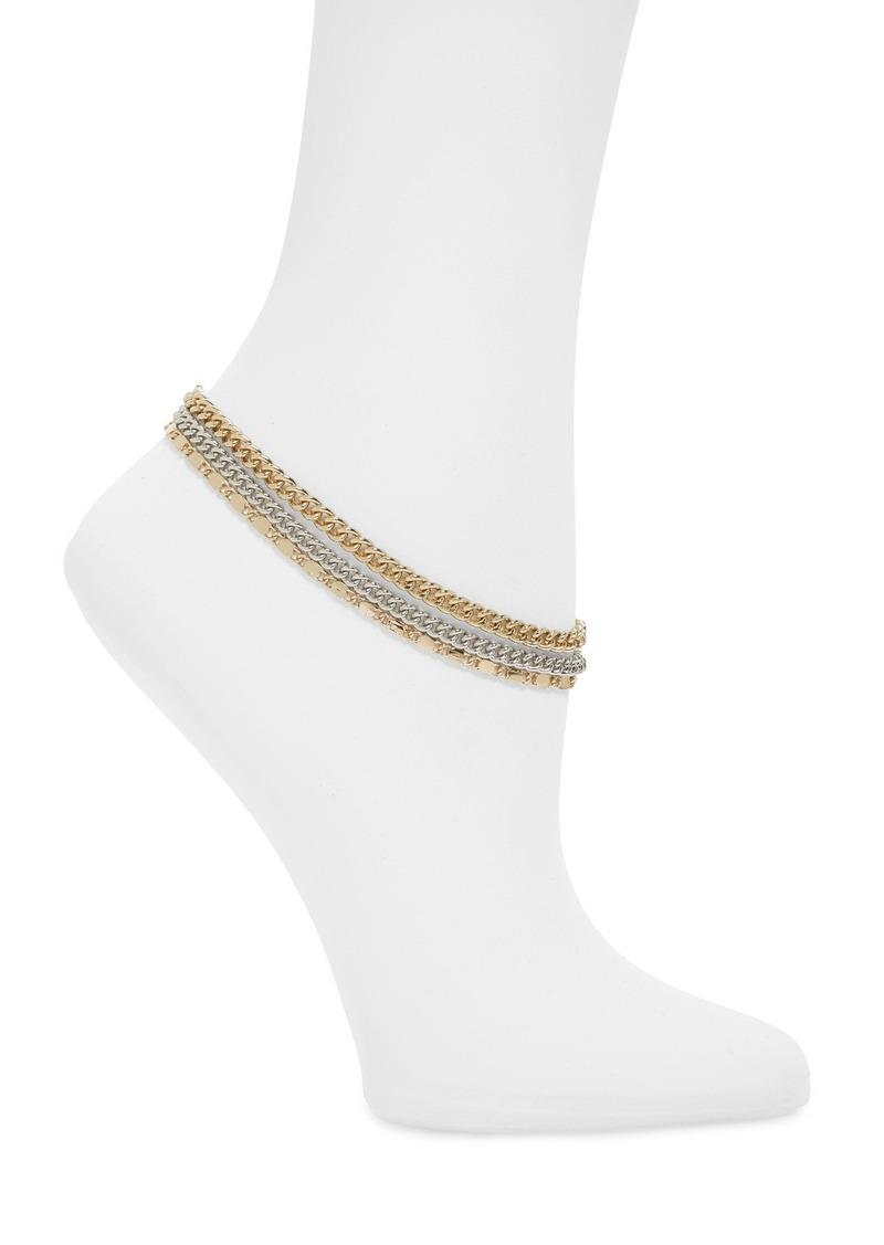 Topshop Triple Chain Anklet