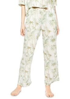 Topshop Tropical Print Pajama Pants