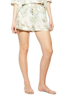 Topshop Tropical Print Pajama Shorts
