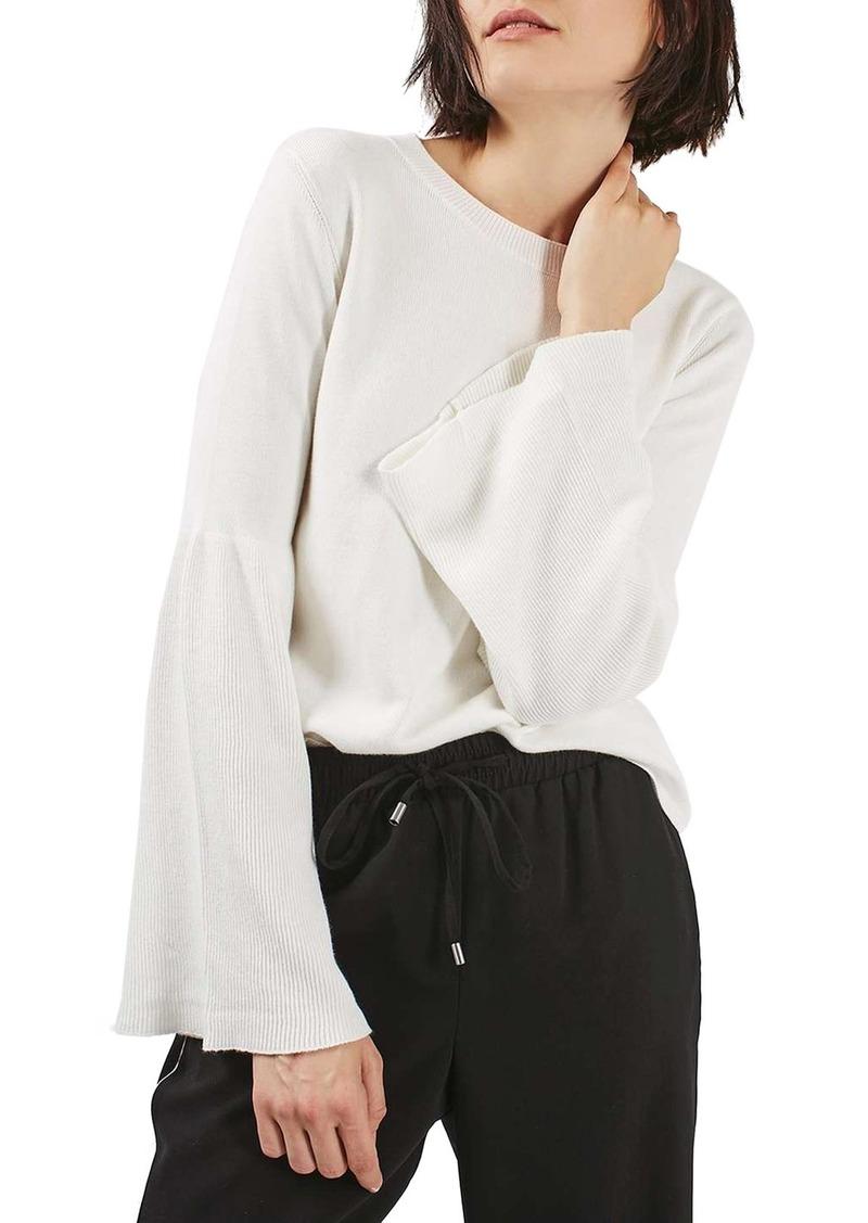 Topshop Trumpet Sleeve Sweater