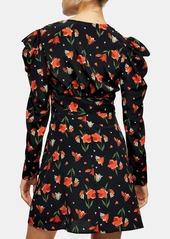 Topshop Tulip Ruched Waist Minidress