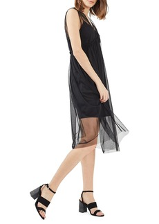 Topshop Tulle Midi Dress
