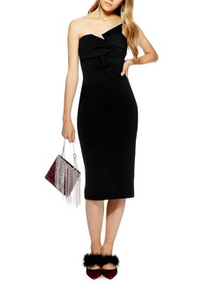 Topshop Twist Bow Sheath Dress