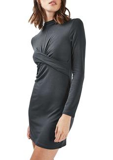 Topshop Twist Front Body-Con Dress (Petite)