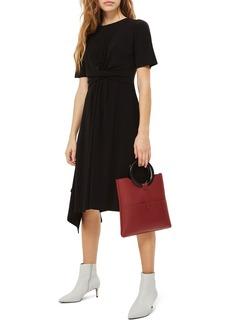 Topshop Twist Front Jersey Midi Dress