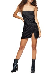 Topshop Twist Front Mini Slipdress