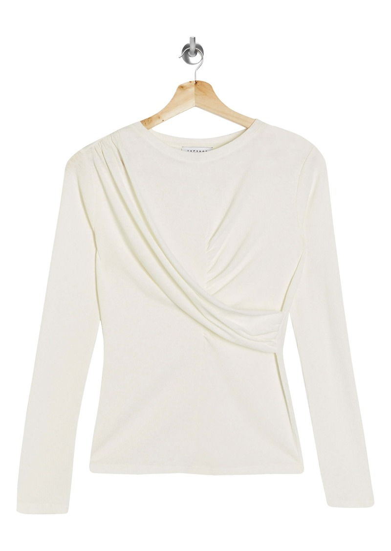 Topshop Twist Front Top