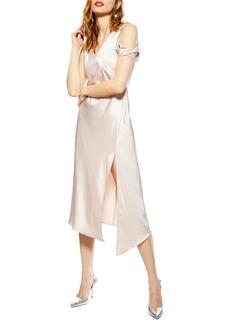 Topshop Twist Shoulder Midi Dress