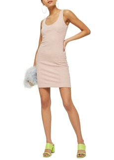 Topshop Underbust Rib Body-Con Dress