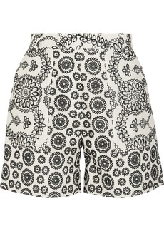 Topshop Unique Cleary broderie anglaise cotton shorts